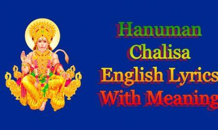 Hanuman Chalisa English Lyrics With Meaning